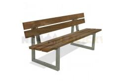 Parková lavička Horn - kovové lavičky