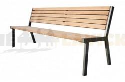 Parková lavička Lucca - kovové lavičky