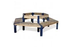 Šestihranná lavička Finn - ocelový model lavičky