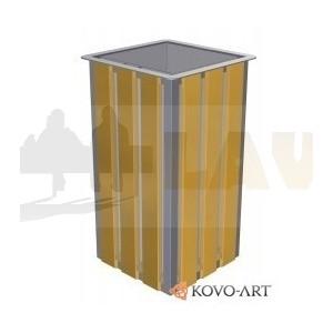 Parkový odpadkový koš dřevěný Lux 65 L