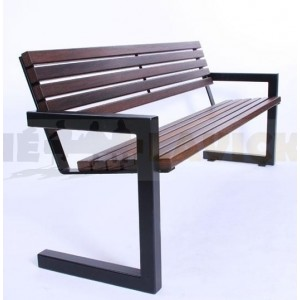 Ocelová lavička Retro