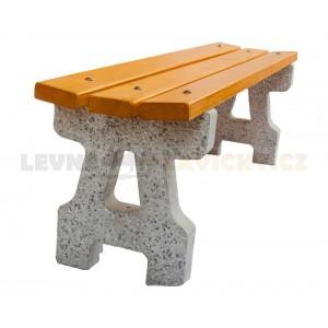 Lavička betonová Klasik bez opěradla