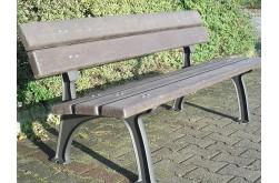 Litinová lavička Zekon s recyklovaným plastem