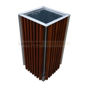 Venkovni  dřevěný odpadkový koš  65l